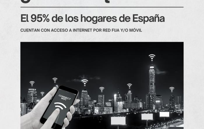 SABIAS QQUE EL 95,3% DE LOS HOGARES DE ESPAÑA..